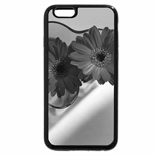 iPhone 6S Case, iPhone 6 Case (Black & White) - Two beautiful red flowers together.