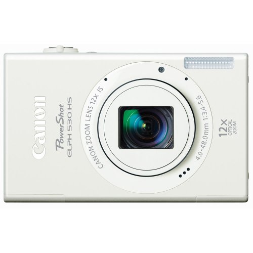 10.1 Mp Cmos Sensor - Canon PowerShot ELPH 530 HS 10.1 MP Wi-Fi Enabled CMOS Digital Camera with 12x Optical Image Stabilized Zoom 28mm Wide-Angle Lens with 1080p Full HD Video and 3.2-Inch Touch Panel LCD (White) (Discontinued by Manufacturer)