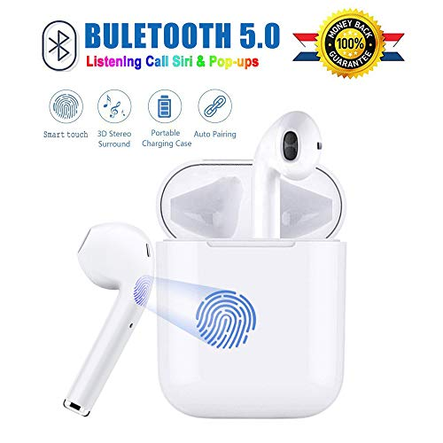 Wireless Bluetooth Headphones in-Ear Wireless Earbuds Smart touch 3D Stereo Bluetooth Headset IPX5 Anti-Sweat Sports Earbuds Earphones Compatible with Samsung/Apple/Airpods/Android/iPhone