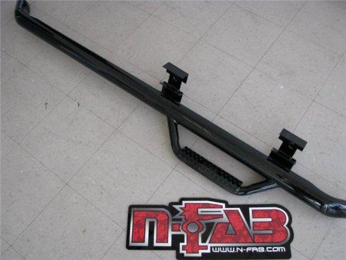 N-FAB T9654RC Gloss Black Nerf Step; Wheel 2 Wheel Toyota Tacoma Regular Cab 6' Bed 95-04