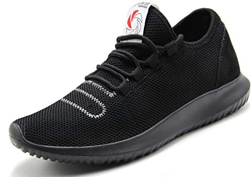 (CAMVAVSR Men's Workout Shoes Fashion Running Sneakers Slip on Lightweight Soft Sole for Young Men Size 6.5, Black-new)