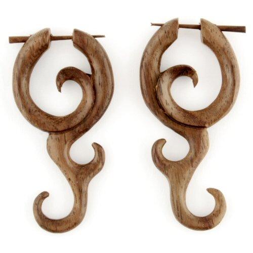 Pair of Ebony Wood Gong Stirrups 18g