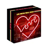 Isaac Jacobs LED Neon Wall Sign with USB Wire (Heart)