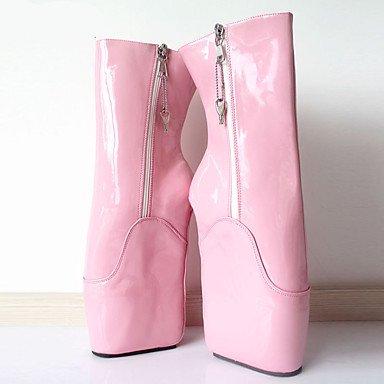 Heart&M Mujer Botas Innovador Botas de Moda Otoño Invierno PU Fiesta y Noche Plataforma Rosa 12 cms y Más