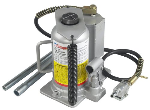 (OTC 4321C 20 Ton Capacity Air-Assist Hydraulic Bottle Jack)