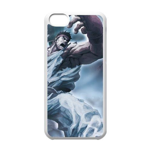 Street Fighter X Tekken 18 coque iPhone 5c cellulaire cas coque de téléphone cas blanche couverture de téléphone portable EEECBCAAN03561