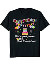 Happy Birthday From Your Grandparents Card+Banner+Cake