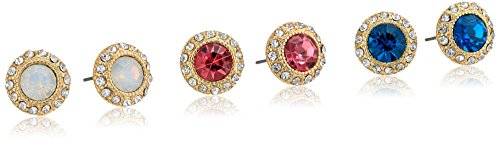 Rhinestone Multi-Crystal Post Stud Earrings
