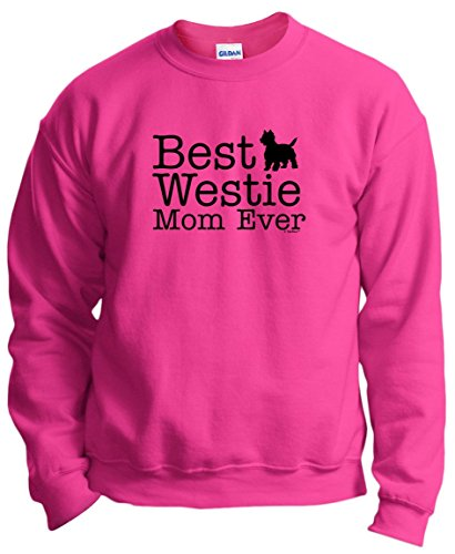 (West Highland Terrier Gifts West Highland Terrier Gifts Best Westie Mom Ever Crewneck Sweatshirt Medium Hlcna)
