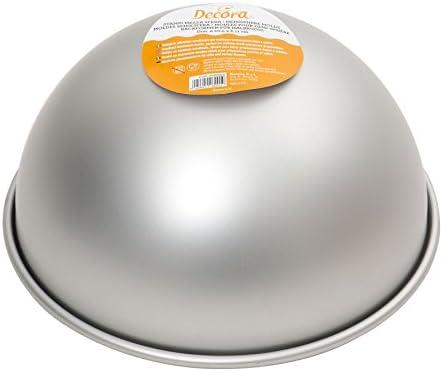 Decora 0062954 Stampo Mezza Sfera, Alluminio, Argento, 15 X H 7,5 CM