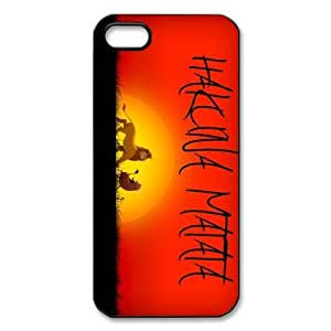 Custom Your Own protective The Lion King Hakuna Matata Iphone 5 Cover Case, Personzlised Hakuna Matata Iphone 5 Cover