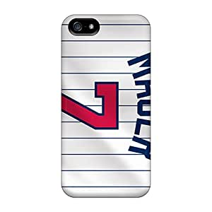 Scratch Resistant Cell-phone Hard Cover For Iphone 5/5s With Support Your Personal Customized Vivid Minnesota Twins Pattern TimeaJoyce