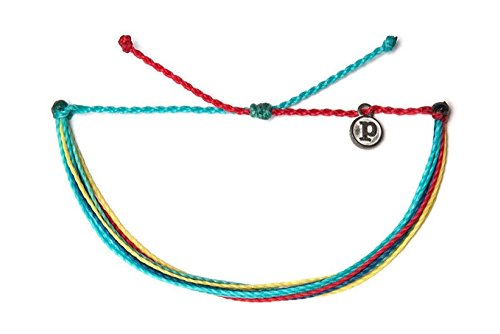 Pura Vida Fun in The Sun Bracelet - 100% Waterproof, Wax-Coated - with Iron-Coated Copper Charm