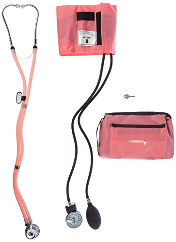 Lumiscope Pink Blood Pressure and Stethoscope Kit
