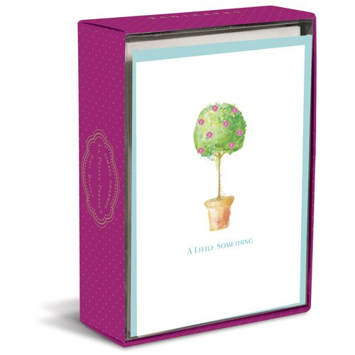 Simply Charmed Topiary Box of 10 Blank Note Cards (Topiary Card)