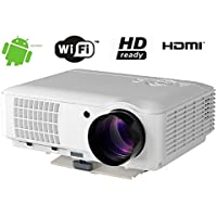 FR S84A 4000 Lumen 1080P HD Android WIFI Home Theater Multimedia USB VGA HDMI LED Projector
