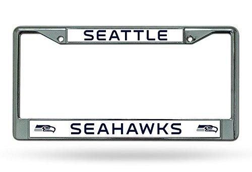 NFL Seattle Seahawks Chrome License Plate Frame