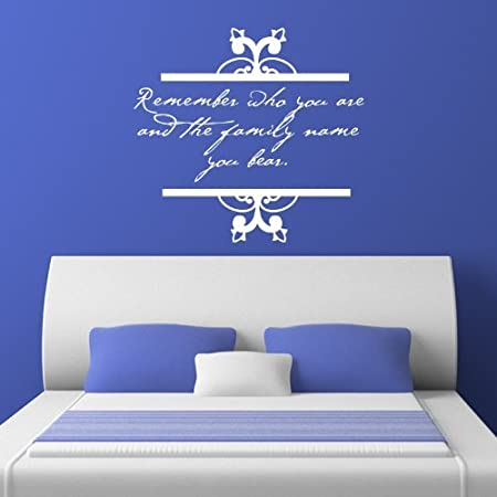 Remember Who You Are Quote Wall Sticker Decal Ice Blue W48 X