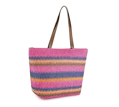 Summer Tote Designs in Pink Beach Knitted Bags Bags Fashionable nPBn7wx