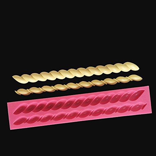 Zehui Cake Decorating Baking Tools Twisted Rope Shape Silicone Fondant Cake (Spider Cheese Ball Halloween)
