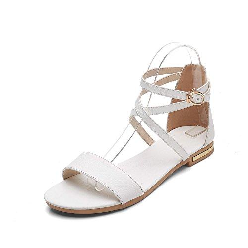 Tamaño versátil y de verano, las alumnas zapatos sandalias white