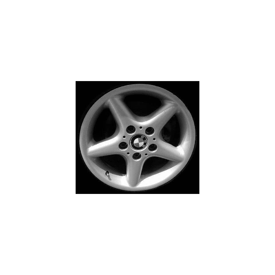 00 02 BMW Z3 ALLOY WHEEL RIM 17 INCH, Diameter 17, Width 8.5 (5 ROUND SPOKES), 41mm offset Style #18, SILVER, 1 Piece Only, Remanufactured (2000 00 2001 01 2002 02) ALY59326U10