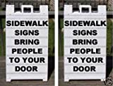 Plastic Sidewalk A-Frame 2-Sided Message Board Signs (Pack of Two)