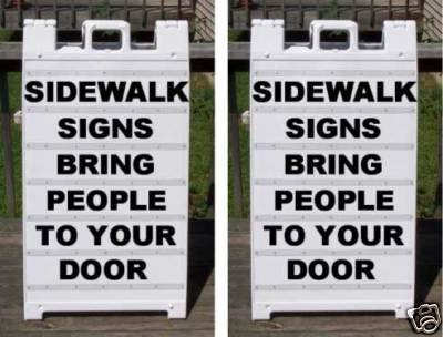 Plastic Sidewalk A-Frame 2-Sided Message Board Signs (Pack of Two) by Accent Printing & Signs