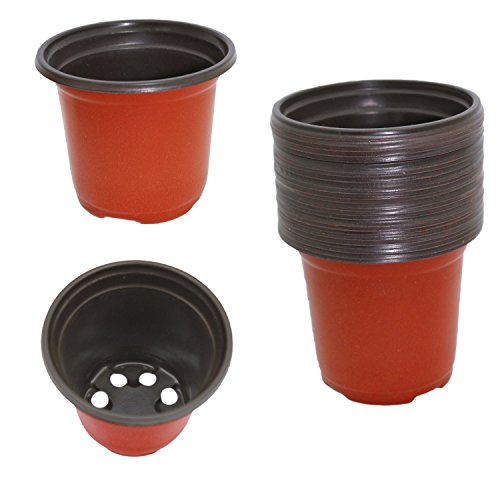 Pack of 24 Plastic Seed Starter Pots, Seed Starting Planters (Small 3.5