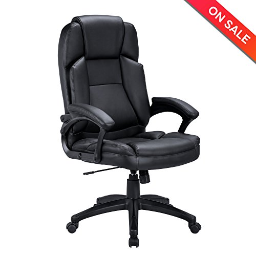 Lch Extra High Back Mesh Office Chair   Computer Desk Task Chair With Padded Leather Headrest And Seat Adjustable Armrest Ergonomic Design For Back Lumbar Support  Black  Black   Black2