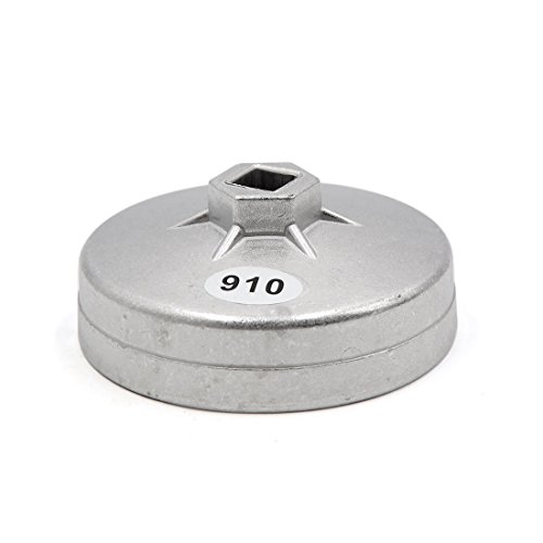 uxcell 910 Aluminum Alloy 95mm Inner Dia 15 Flute Oil Filter Cap Wrench Socket Removal Tool for Car by uxcell (Image #2)