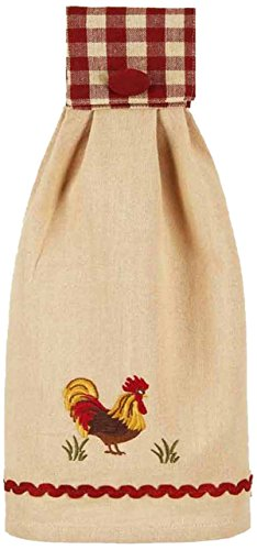 (Home Collection by Raghu Rooster Barn and Nutmeg Towel, 16.5 x 18.5