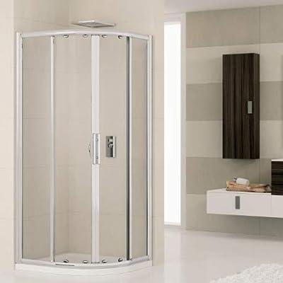 Cabina de ducha Novellini Lunes R80L3D Box semicircular blanca + ...