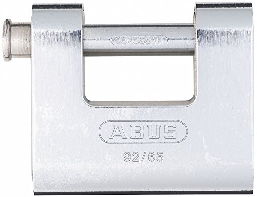 Monoblock Padlock - ABUS 92/65 B KA All Weather Solid Brass with Steel Jacket Monoblock Keyed Alike Padlock by ABUS