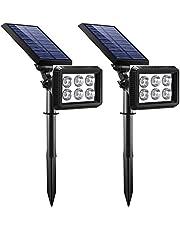 Lampada Solare da Esterno, [2 pezzi] Luci Solari Wireless con 2 Modalità Sensore di Movimento, Impermeabile IP65, Alta Luminoso, Orario di Lavoro10-12 Ore, Lampade Solari per Giardino, Patio