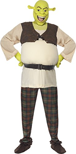 Couples Ladies and Mens DreamWorks Shrek and Fiona Halloween Film Fancy Dress Costumes Outfits (Ladies 16-18 & Mens Medium) -