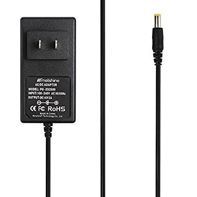 Molshine (6.6ft Cable) AC Adapter for Booster PAC ES2500 ESA22 ES2500KE ESA217 ES5000 ESP5500 J900 J850 J1000 J2000 CS1000 CS2000 Car(via Small Pin)Battery Jump Starter Outpac Rescuepac Charger