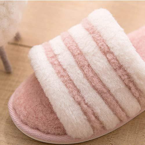 D'hiver Automne Hiver slip Western Intérieur Flop En Molleton Coton Confortable Non Flip Pantoufles Style Et Garder Td A Au Chaud Doux ZPqzwHxw