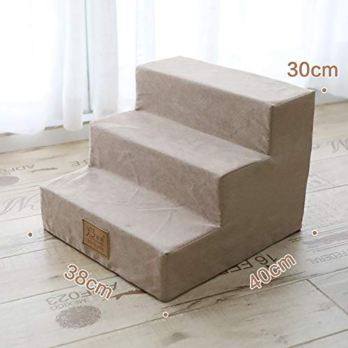 Dog Stairs & Steps,Ramp for Dogs Stairs Dogs Bed Large Dog Stairs for Pets Staying Stairs Mat for Dogs Washable Before Favorite of The Family,Khaki
