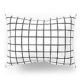 Society6 Grid (Black/White) Pillow Sham Standard (20'' x 26'') Set of 2
