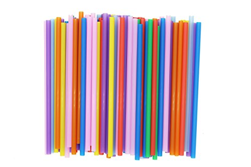 200 Count MultiColored Smoothies Straws, Flex Straws for Art and Crafts DIY Project