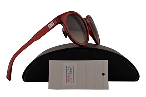 Armani Exchange AX4057S Sunglasses Transparent Watermelon w/Brown Gradient 53mm Lens 820913 AX 4057S - In Armani China Made Exchange Sunglasses