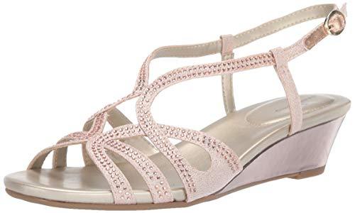 Bandolino Women's GYALA Wedge Sandal, Rose, 7.5 Medium ()