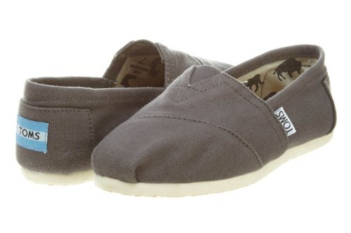 Toms Women's Classic Canvas Ash Slip-on Shoe - 5.5 B(M) US