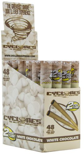 CYCLONES PRE ROLLED CONES WHITE CHOCOLATE FLAVOR PACK OF 24 (White Chocolate Cyclone)