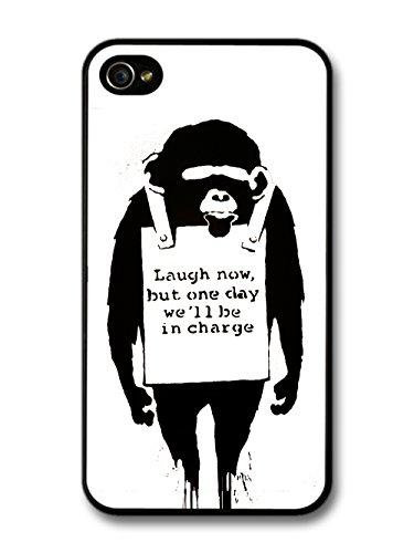 Banksy Laugh Now Chimp Ape iPhone 4 4S case