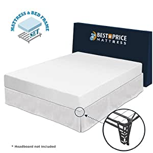 best price mattress twin 8 memory foam mattress bed frame set twin no box. Black Bedroom Furniture Sets. Home Design Ideas