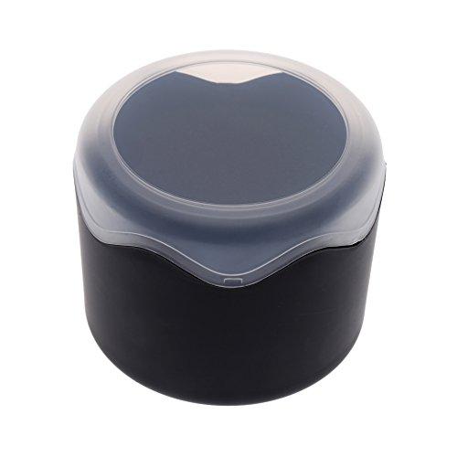 (Fashion Wristwatch Case Round Plastic Single Watch Box with Sponge)