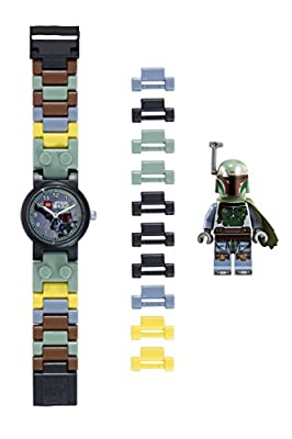 LEGO Boy's 'Boba Fett' Quartz Plastic Watch, Color:Green (Model: 8020363) from LEGO