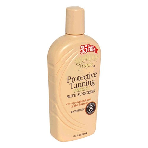 Hawaiian Tropic Protective Tanning Lotion with Sunscreen, Protection Factor 8, Bonus 10.8 fl oz (319 ml)